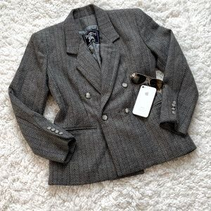 Vintage Burberry Double Breasted Wool Blazer